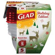 Glad Holiday 5 Count Snack Size Food Storage