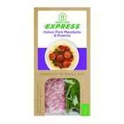 Home Chef Express Italian Pork Meatballs & Polenta