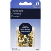Helping Hand Thumb Tacks, Brass