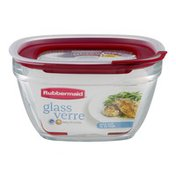 Rubbermaid Glass Container With Lid 11.5 Cups