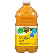 Food Club 100% Unsweetened Pineapple Juice From Concentrate With Added Ingredient