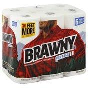 Brawny Paper Towels, Regular Rolls, Pick-A-Size, White, 2-Ply