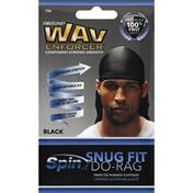 Wav Enforcer Do-Rag, Snug Fit, Black 106
