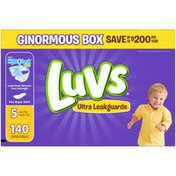 Luvs Ultra Leakguards Diapers Size 5 140 count Diapers