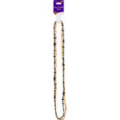 Beistle Collar, Halloween Beads, Black & Orange, Card