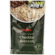 Hy-Vee Cheddar Broccoli Rice & Pasta Blend With Broccoli In A Cheddar Cheese Sauce