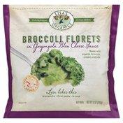Lisas Organics Broccoli Florets, in Gorgonzola Bleu Cheese Sauce