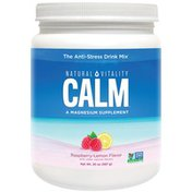 Natural Vitality Natural Raspberry-lemon Calm A Relaxing Magnesium Dietary Supplement