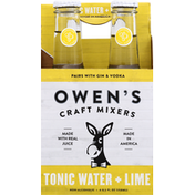 Owens Tonic Water + Lime, Craft Mixers