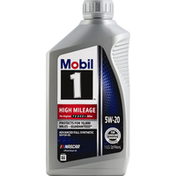 Mobil Motor Oil, Advanced Full Synthetic, 5W-20, High Mileage