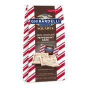 Ghirardelli Dark Chocolate Peppermint Bark Squares