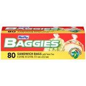 Hefty with Ties Sandwich & Storage Bags