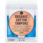 L. Organic Cotton Super Absorbency Compact Tampons