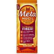 Metamucil Multi Health Psyllium Fiber Supplement Powder with Real Sugar, Orange