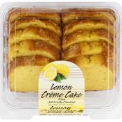 Olson's Baking Company Creme Cake, Lemon, Sliced