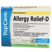 Topcare Health Allergy & Congestion Relief Extended Release Tablets