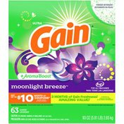 Gain Powder Laundry Detergent For Regular And He Washers, Moonlight Breeze Scent