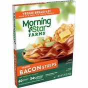 Morning Star Farms Meatless Bacon Strips, Plant Based Protein, Original