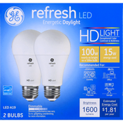 GE Light Bulbs, LED A19, HD Light, 15 Watts