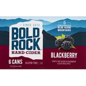 Bold Rock Hard Cider, Blackberry, 6 Pack