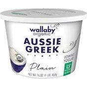 Wallaby Organic Greek Plain Lowfat Yogurt