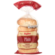 Hy-Vee Plain Larger Bakery Style Bagels