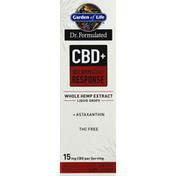 Garden of Life Whole Hemp Extract, CBD + Inflammatory Response, Liquid Drops