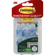 3M Command Light Clips, Outdoor, Value Pack
