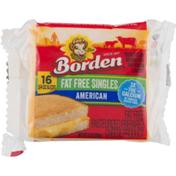 Borden Cheese Fat Free Singles American - 16 CT