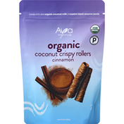 Ava Organics Coconut Crispy Rollers, Organic, Cinnamon