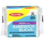 Valu Time Sandwich Slices Swiss Flavored Imitation Cheese