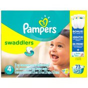 Pampers Swaddlers Size 4 Super Pack with Bonus Diapers