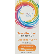 Harmony Hemp Pain Relief Gel, Hands & Feet