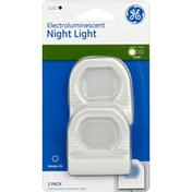 GE Night Light, Electroluminescent, 2 Pack