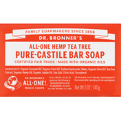 Dr. Bronner's Bar Soap, All-One Hemp Tea Tree