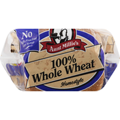 Aunt Millie's Bread, 100% Whole Wheat, Homestyle