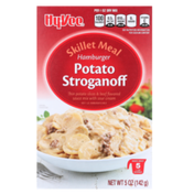 Hy-Vee Hamburger Potato Stroganoff Thin Potato Slices & Beef Flavored Sauce Mix With Sour Cream Skillet Meal