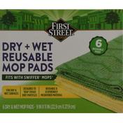 First Street Mop Pads, Reusable, Dry + Wet