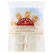 Stone Ridge Creamery Ice Cream Cups, Vanilla & Orange Sherbet