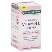 Nature's Bounty Vitamin E, Nourishing, 180 mg, Softgels