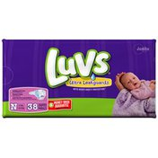 Luvs with Ultra Leakguards Jumbo Pack Size Newborn Diapers