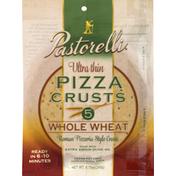 Pastorelli Pizza Crusts, Ultra Thin, Whole Wheat, Roman Pizzeria Style