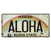 Pacific License Plate, Aloha