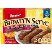 Banquet Brown N Serve Vermont Maple Sausage Links