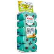 Bags On Board Ocean Breeze Scent Doggie Clean Up Bags