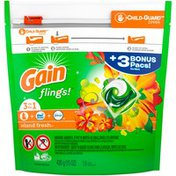 Gain Island Fresh Gain flings! Liquid Laundry Detergent Pacs, Island Fresh