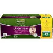 Depend for Women Maximum Absorbency L Underwear