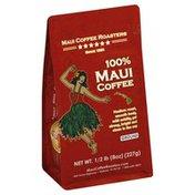 Maui Coffee Roasters Coffee, 100% Maui, Ground, Medium Roast