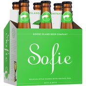 Goose Island Beer Co. Sofie Barrel-Aged Saison with Orange Peel Beer Bottles