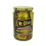 Mt. Olive Sandwich Stuffer Old Fashioned Sweet Bread & Butter Pickles